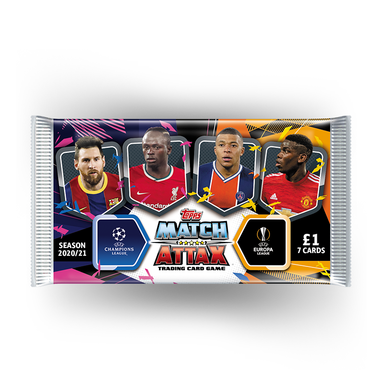 Topps Match Attax 2020//21 Sealed Booster PacksFootball Cards 20//21 Packets