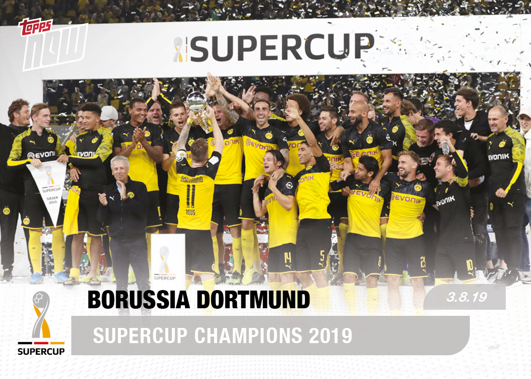 Bvb Send Message To The Champions Bundesliga Topps Now Card 4 Print Run 51