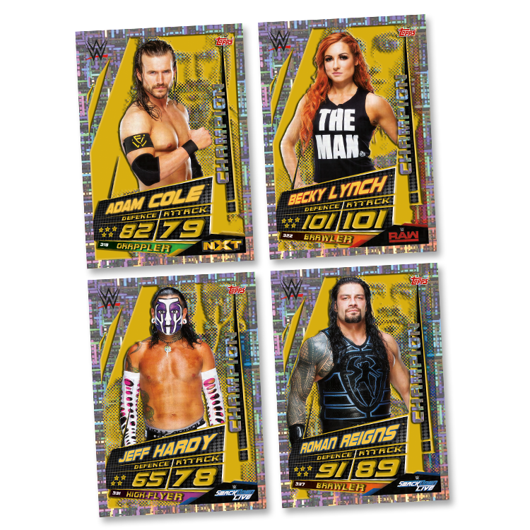 Topps Slam Attax univers Champion OMG Hall of Fame cartes