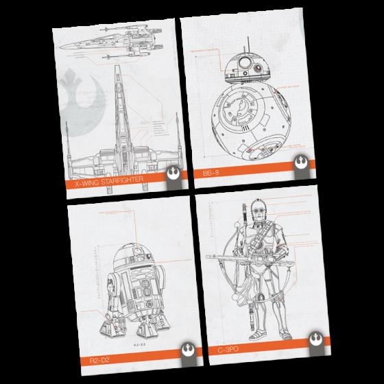 Journey To Star Wars The Rise Of Skywalker Schematics Cards