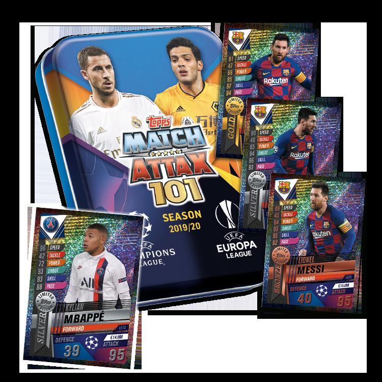 Topps match coronó 101 2019//2020 3 X Display//72 Booster 19//20